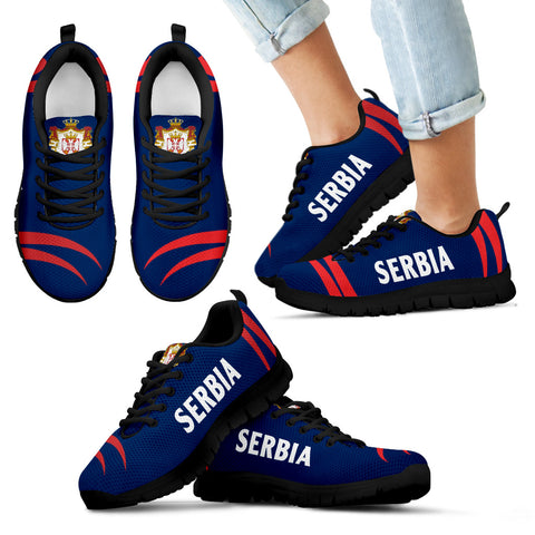 Image of Serbia Sneakers Coat Of Arms - Claws Style