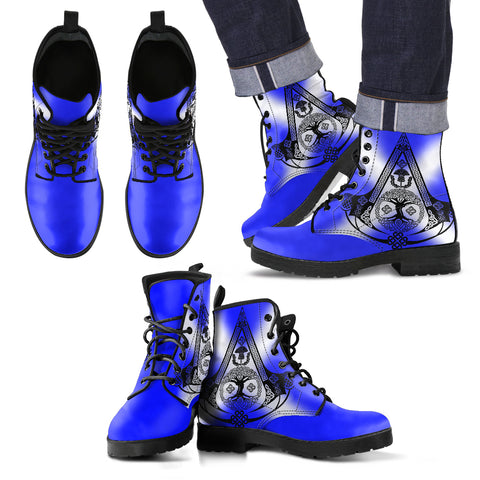 Image of Celtic Boots - Celtic Thistle (Mens/Womens Leather Boot) A4
