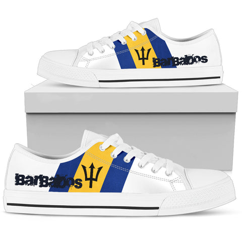 Barbados Flag (Men'S/Women'S) Canvas Shoes A2 |Footwear| 1sttheworld