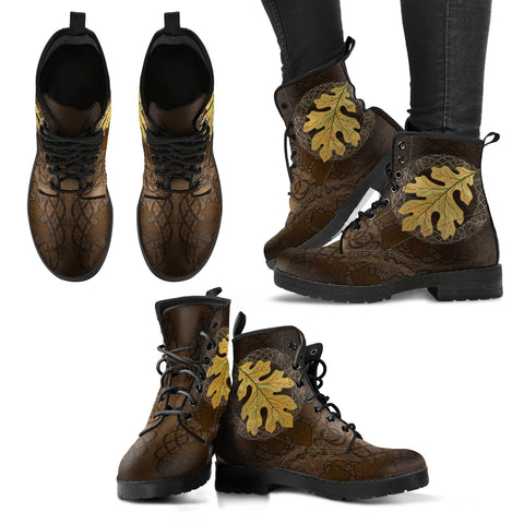 Celtic Leather Boots - Celtic Oak Leaf NN8
