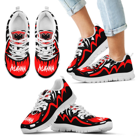 Image of Albania Sneakers - Crazy Albania Style - White - For Kid
