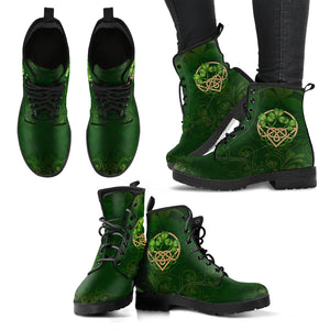 Ireland Leather Boots - Irish Shamrock Celtic - Luxurious Leather Boots - For Men and Women