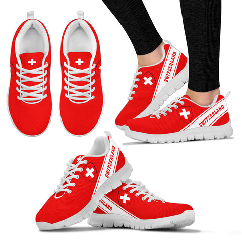 Switzerland Flag Sneakers - Line Style - J4