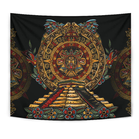 Mexico Tapestry Aztec Sun Stone Tattoo A7