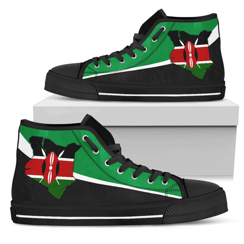 Image of Kenya Map Special High Top Shoe A5