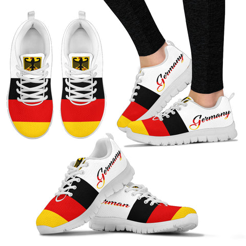German Flag With German Coat Of Arms Sneakers K5