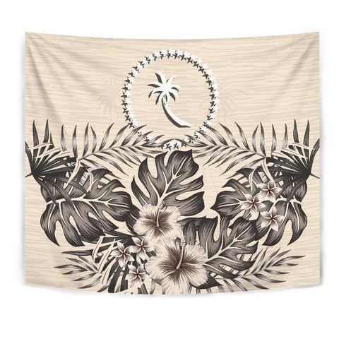 Image of Chuuk Tapestry - The Beige Hibiscus A7