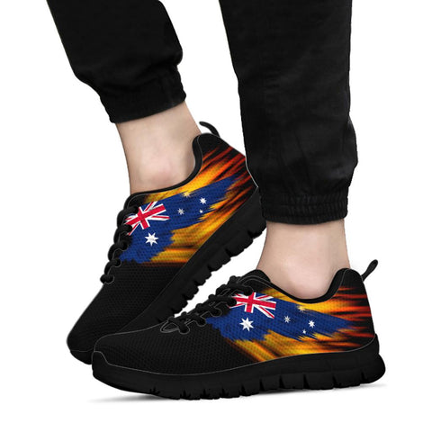 Australia Sneakers - Fire Wings and Flag | Love The World