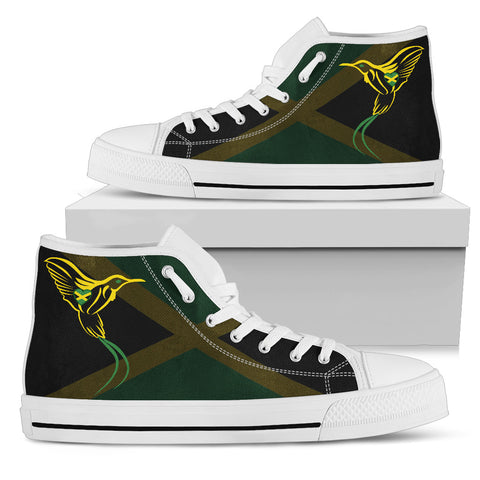 Jamaica Flag And Doctor Bird High Top Canvas Shoes H1