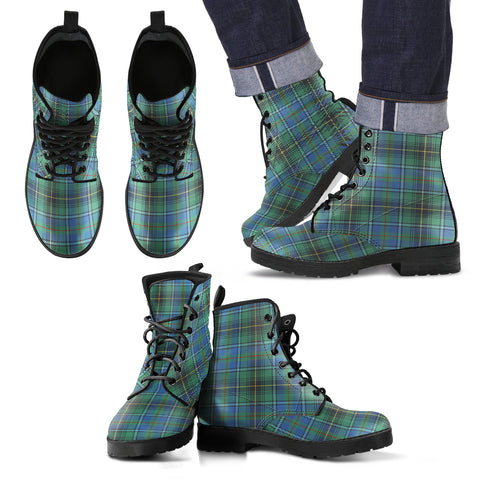Image of Macinnes Ancient Tartan Leather Boots Hj4 |Footwear| Love The World