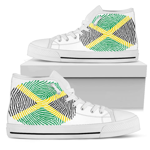 Image of Jamaica Fingerprint Flag High top shoes H9