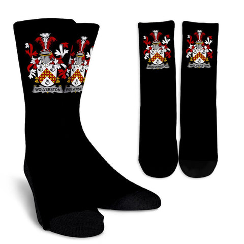 Wolverston Ireland Crew Socks - Irish Family Crest  | Over 1400 Crests | High Quality | 1sttheworld