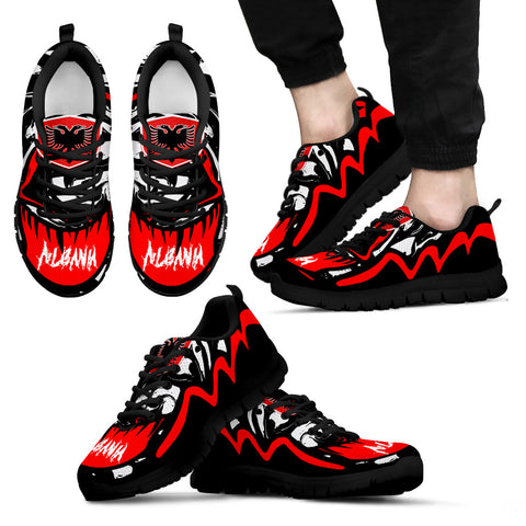 Image of Albania Sneakers - Crazy Albania Style - Black - For Men
