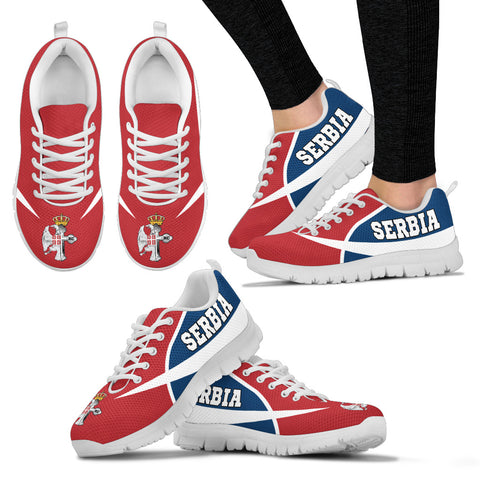 Image of Serbia Sneakers - Serbian Eagle / Orthodox Cross A7