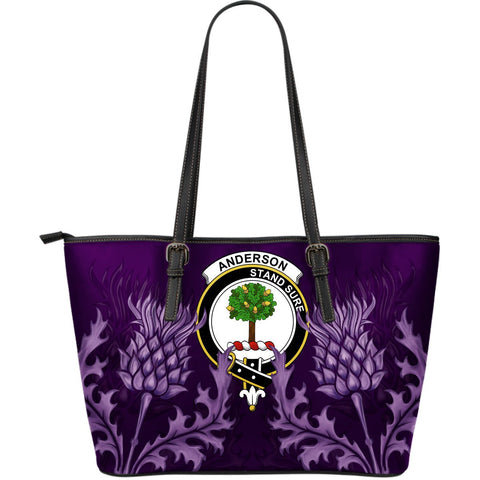Anderson Leather Tote Bag - Scottish Thistle (Large Size) A7