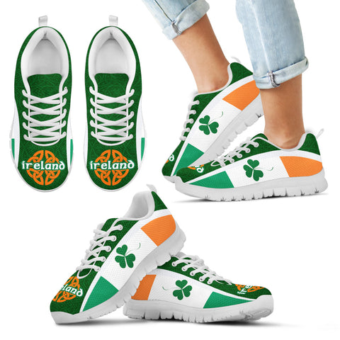 Ireland Celtic Sneakers Shamrock Flag - Patterns Celtic Shamrock Th5