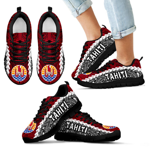 Image of Tahiti Polynesian Sneakers Coat Of Arms