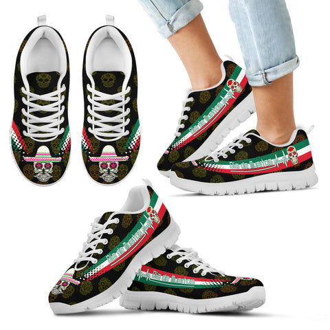 Mexico Day of The Dead Heartbeat Sneakers TH0