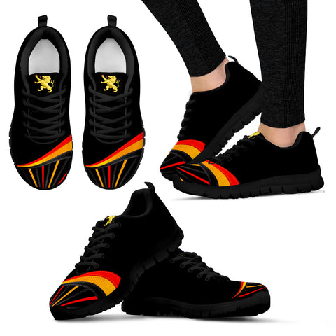 Belgium Sneakers Flag and Coat of Arms K4
