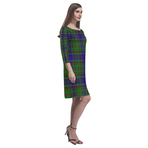 Adam Tartan Dress - Rhea Loose Round Neck Dress - BN