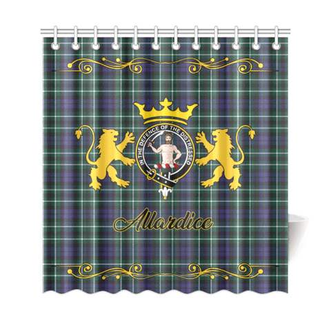 Tartan Shower Curtain - Allardice Clan | Scottish Home Set | Over 300 Clans