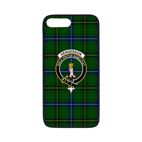 Henderson Tartan Clan Badge Rubber Phone Case HJ4