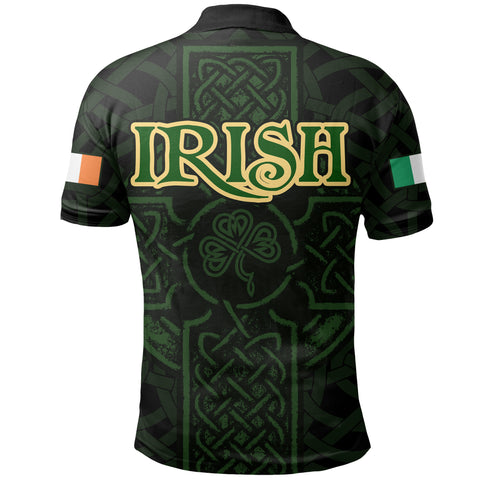 Ireland Men's Polo Shirt - Irish Celtic Cross
