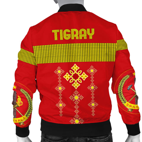 1stTheWorld Tigray Bomber Jacket, Tigray Round Pattern Flag Men A10
