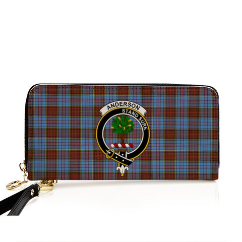 ANDERSON TARTAN CLAN BADGE ZIPPER WALLET HJ4