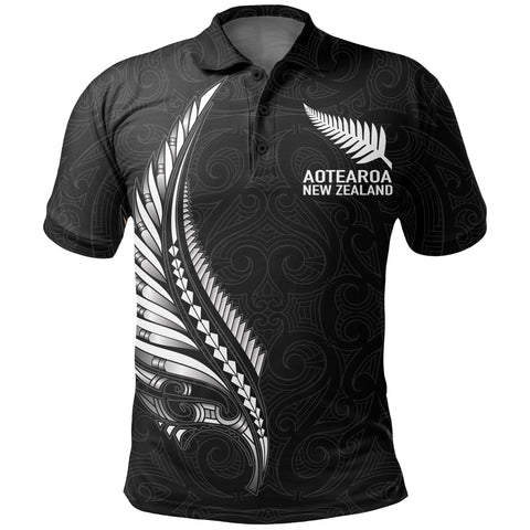 Image of New Zealand Polo Shirt - Spirit and Heart We Are Strong A7