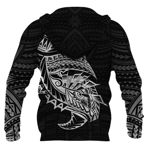 Image of Samoa Tattoo Rugby Style Hoodie Black K4