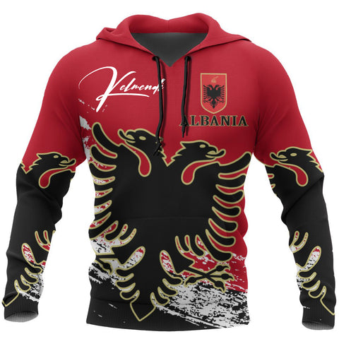 Image of (Custom) Albania Hoodie Personal Signature A7