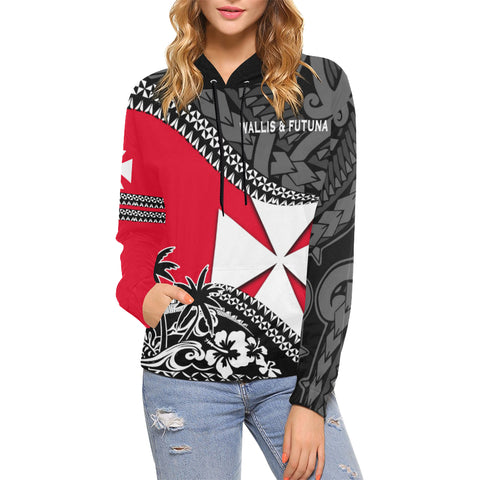 Wallis And Futuna Hoodie Fall In The Wave - For Woman