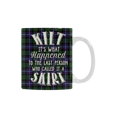 Image of Galbraith Modern Tartan Quote White Mug Hj4 | 1sttheworld.com