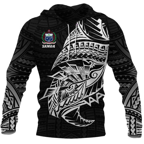 Samoa Tattoo Rugby Style Hoodie Black front