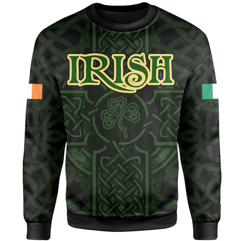 Ireland Sweatshirt - Irish Celtic Cross | Clothing