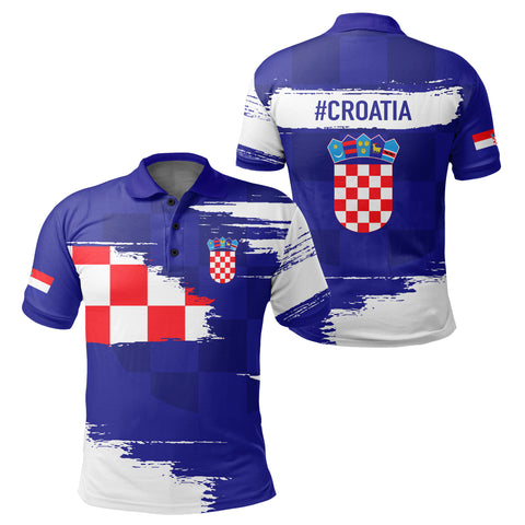 Image of Croatia Polo Shirt - Sport Ver Blue | Clothing | 1sttheworld