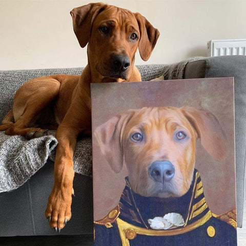Image of The Admiral - Custom Pet Canvas Prints