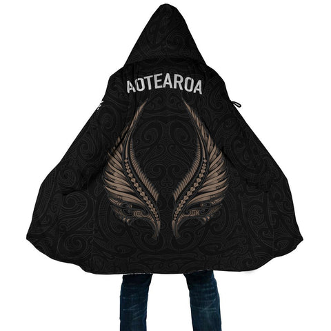 Aotearoa New Zealand - Maori Fern Tattoo (Women/Men) Cloak A7