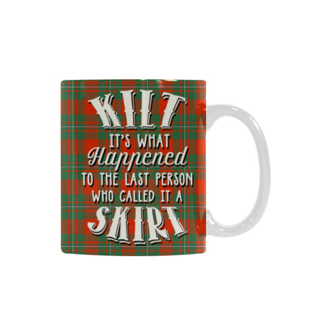 Macgregor Ancient Tartan Quote White Mug Hj4 | 1sttheworld.com