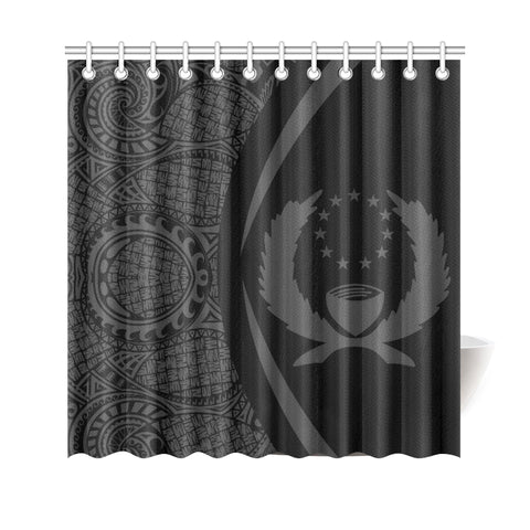 Pohnpei Micronesian Shower Curtain - Circle Style