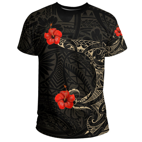 Polynesian Hibiscus T-Shirt Tattoo Style A7