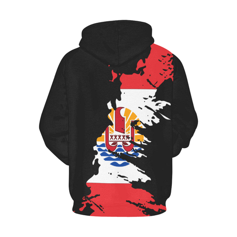 French Polynesian Hoodie Flag Painting Style Th5