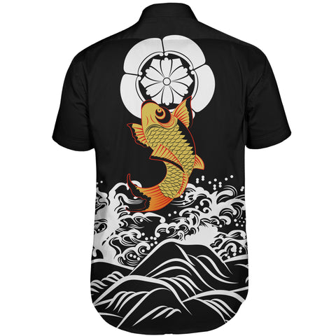 The Golden Koi Fish Short Sleeve Shirt A7