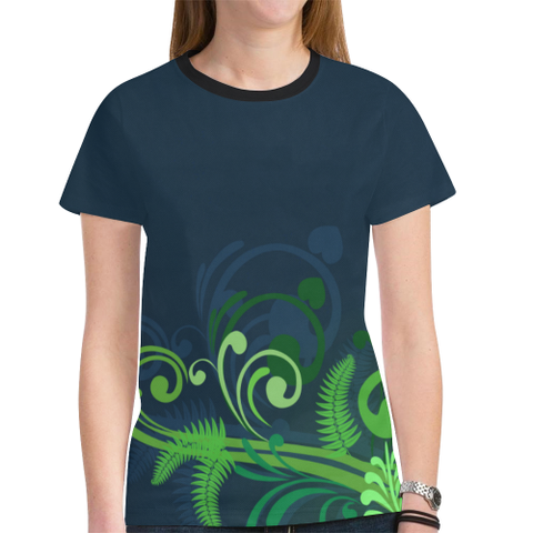 Image of Special Edition of New Zealand Fern - Fern All Over Print T Shirt