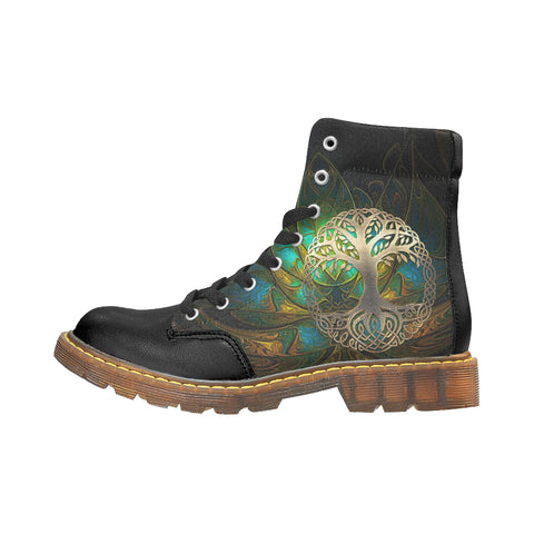 Celtic Apache Boots - Luxury Golden Celtic Tree A7
