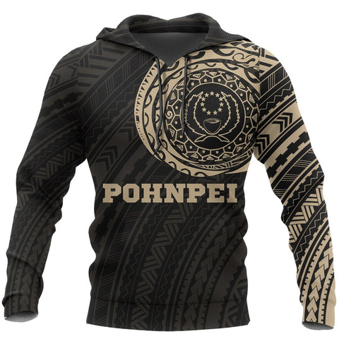 Pohnpei In My Heart - Tattoo Style Hoodie A7