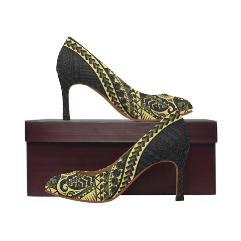 Polynesian 1st High Heels (Gold) A6 |Footwear| 1sttheworld