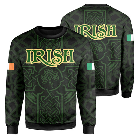 Ireland Sweatshirt - Irish Celtic Cross | Clothing | 1sttheworld