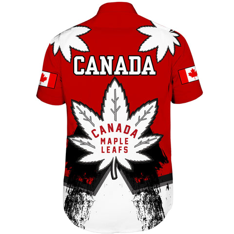 Image of 1stCanada Short Sleeve Shirt Canadian Maple Leafs A7